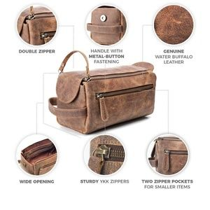 Moonster Leather Toiletry Bag